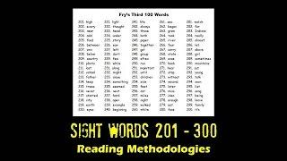 Homeschool Series - Reading - Sight Words - 201 - 300