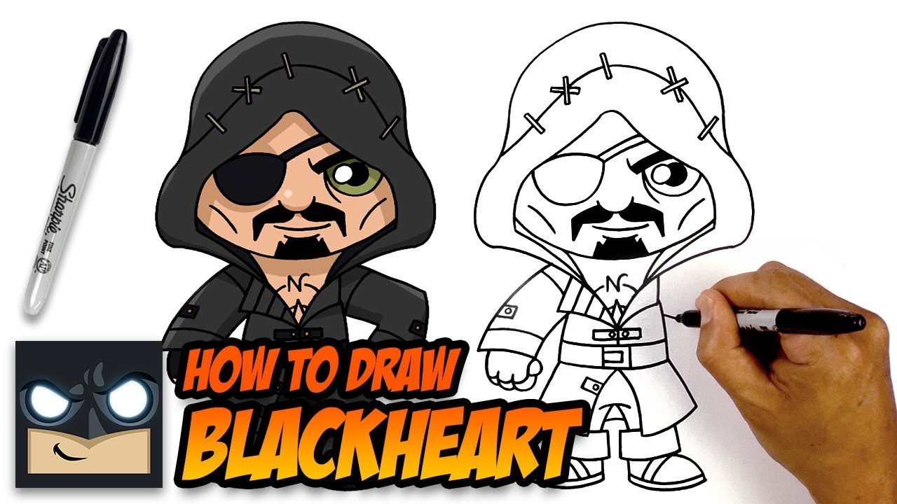 How to Draw Fortnite | Blackheart | Step-by-Step - YouTube