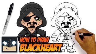 How to Draw Fortnite | Blackheart | Step-by-Step