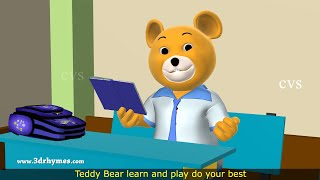 vuclip Teddy Bear Song -3D Animation Teddy Bear Nursery Rhyme for Children