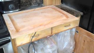 How to Paint Kitchen Cabinets: Step 4 Sanding