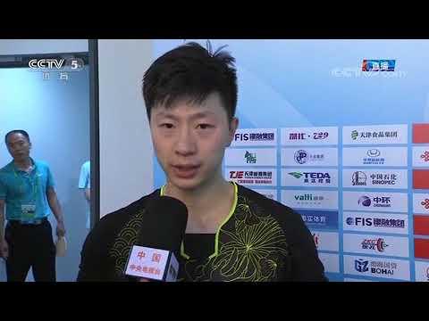 [News & Interview][20170904]CCTV   Ma Long & XU Xin interview play start well    2017 National Games