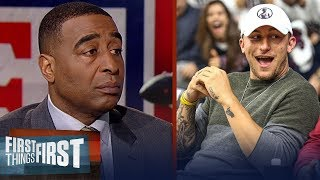 Cris Carter reacts to Johnny Manziel positioning himself for an NFL comeback | FIRST THINGS FIRST