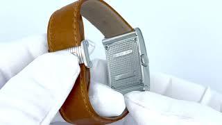 Vidéo: Montre Boucheron Reflet Dame GM en acier avec index diamants, mouvement Quartz.