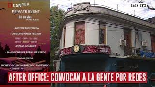 """Organizan un """"after office"""" clandestino en el barrio porteño de Palermo"""