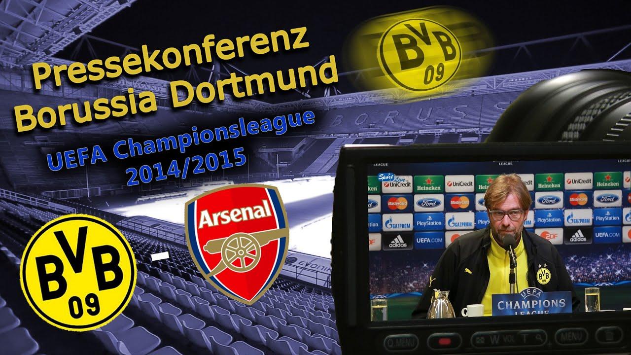 UEFA Championsleague : Borussia Dortmund - Arsenal FC  2:0 - Pressekonferenz Jürgen Klopp