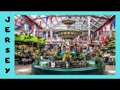 JERSEY: Tour of the CENTRAL MARKET in ST HELIER (Channel Islands)