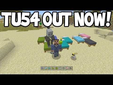 Minecraft Xbox - TU54 Update! - OUT NOW! - ALL NEW FEATURES!