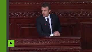 Déstabilisation de la Lybie : Macron reconnaît la responsabilité de l'OTAN ( Image RT France)