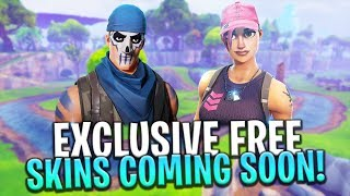 Two FREE EXCLUSIVE SKINS Coming Soon! - Fortnite: Battle Royale