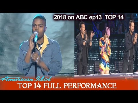 "Michael J. Woodard sings ""Titanium"" HE TOOK THEM TO A NEW LEVEL American Idol 2018 Top 14"