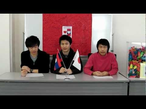 Earthquake in Sendai, Japan 11 March 2011 on Laos' television