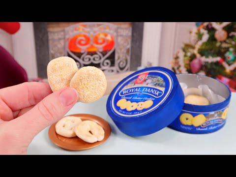 DIY Miniature Danish Butter Cookies and Tin! How to Make Christmas Cookies as Gifts