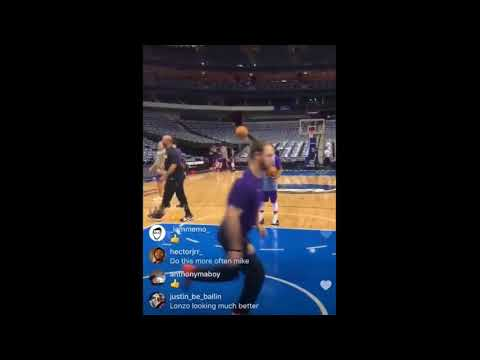 Isaiah Thomas & Lonzo Ball getting shots up together!! Isaiah doesnt miss!!!