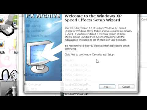 how to add shake effect in windows movie maker