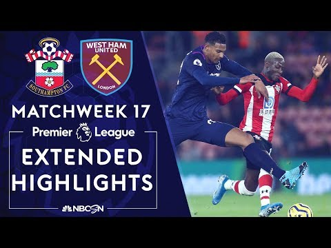 Southampton v. West Ham   PREMIER LEAGUE HIGHLIGHTS   12/14/19   NBC Sports