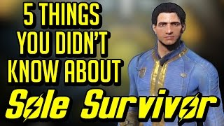 5 Things You Didn't Know About The Sole Survivor (Fallout 4)