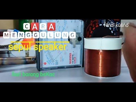 menggulung sepul speaker dari kaleng bekas minuman,by mas fendi (PAKDE ORNOT)
