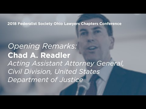 Opening Remarks by Chad A. Readler [2018 Ohio Chapters Conference]