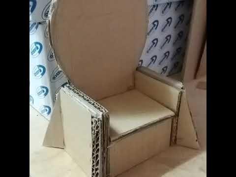 DIY cardboard Game of throne chair - YouTube