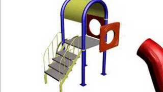 PARK TASARIM CO 18 POLYETHYLENE PLAYGROUND EQUIPMENTS SET