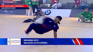 SEA Games 2019: Breaking Boys — Philippines vs. Malaysia | Dancesport