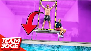 FORCED Belly FLOP Challenge!! *This one HURT!!*
