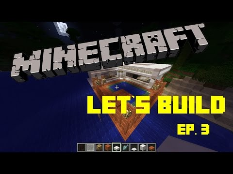 Minecraft Let's Build | Ep 3 | Squid in the Pool!!! Modern Beach House