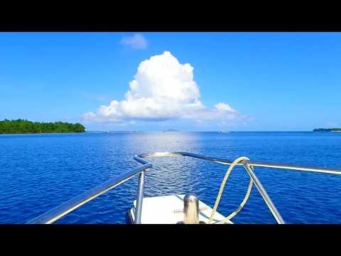 Speed boat trip along the eastern coast of Bunaken, North Sulawesi.
