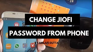 HOW TO CHANGE THE JIOFI DEVICE PASSWORD FROM SMARTPHONE