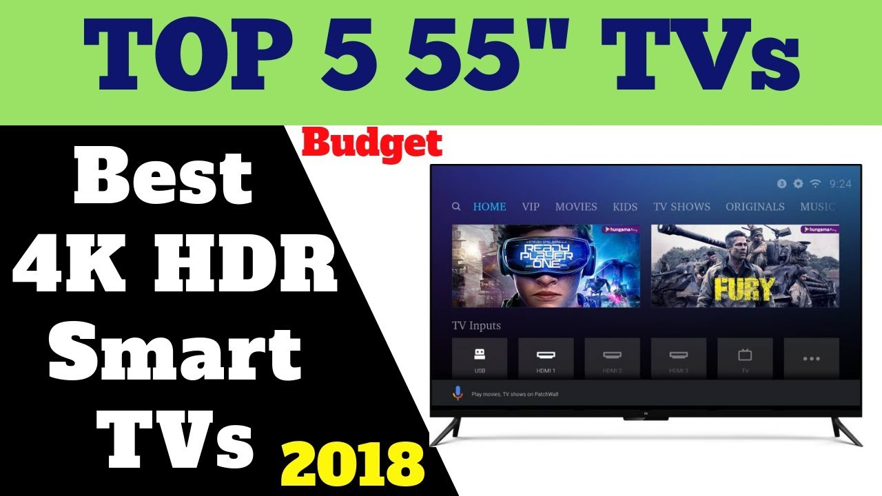 Best Budget Smart Tv 2019 Top 5 Best Budget 55 inches 4K Smart TVs 2019 | Review   YouTube