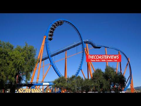 Scream : The Ride - Front Row POV - Six Flags Magic Mountain