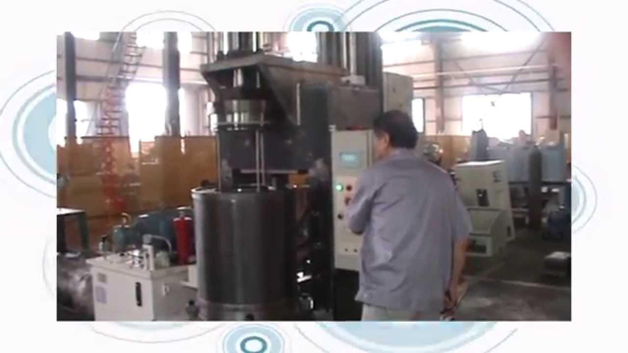 China wet-bag cold isostatic press running video by SXKYYC Machinery