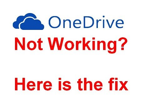 Onedrive not working/syncing/starting? Here is the fix