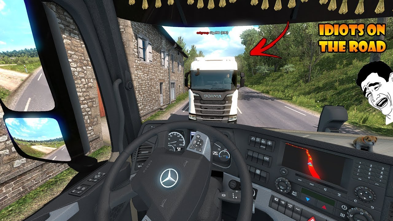 4b3a5da1a73 IDIOTS on the road #58 - ETS2MP | Funny moments - Euro Truck Simulator 2  Multiplayer