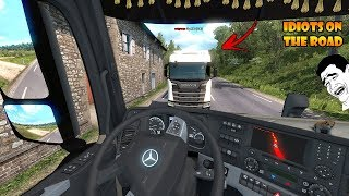 ★ IDIOTS on the road #58 - ETS2MP   Funny moments - Euro Truck Simulator 2 Multiplayer