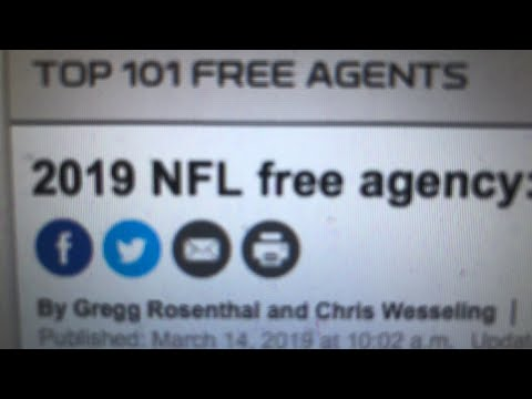 2019 NFL Free Agency News, Oakland Raiders Las Vegas Update