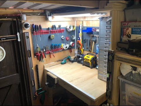 Tiny Workshop Tour/Garage Storage Unit Tools And Other Junk