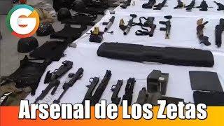 Arsenal de Los Zetas asegurado en Tamaulipas