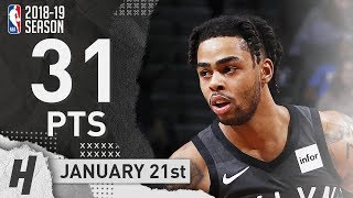 D'Angelo Russell Full Highlights Nets vs Kings 2019.01.21 - 31 Pts, 8 Ast, 4 Rebounds!