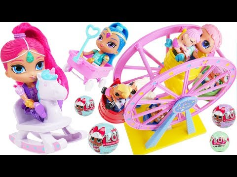 Don't Wake Shimmer and Shine Mystery LOL Dolls Bedtime Routine Playmobil Fair Park Carnival Rides!
