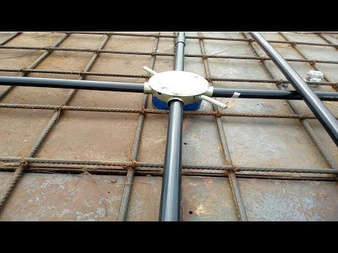 Rcc Slab Electrical Conduit Pipe Working Process House Wiring Youtube