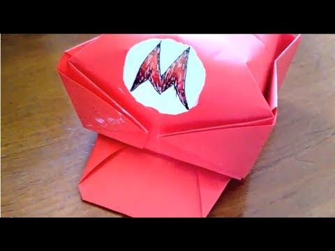 Origami How To Make Marios Cap Youtube
