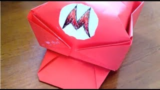 (origami) How To Make Mario's Cap