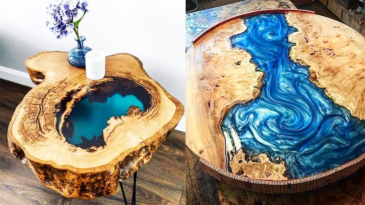 Epoxy Resin VOLTAGE RIVER Table MAKING PROCESS 10 IDEAS ...