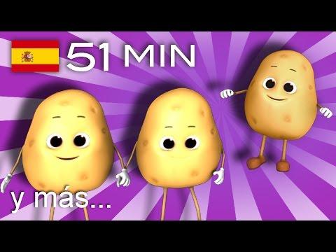 Una patata, dos patatas  | Y muchas más canciones infantiles | ¡51 min de LittleBabyBum!