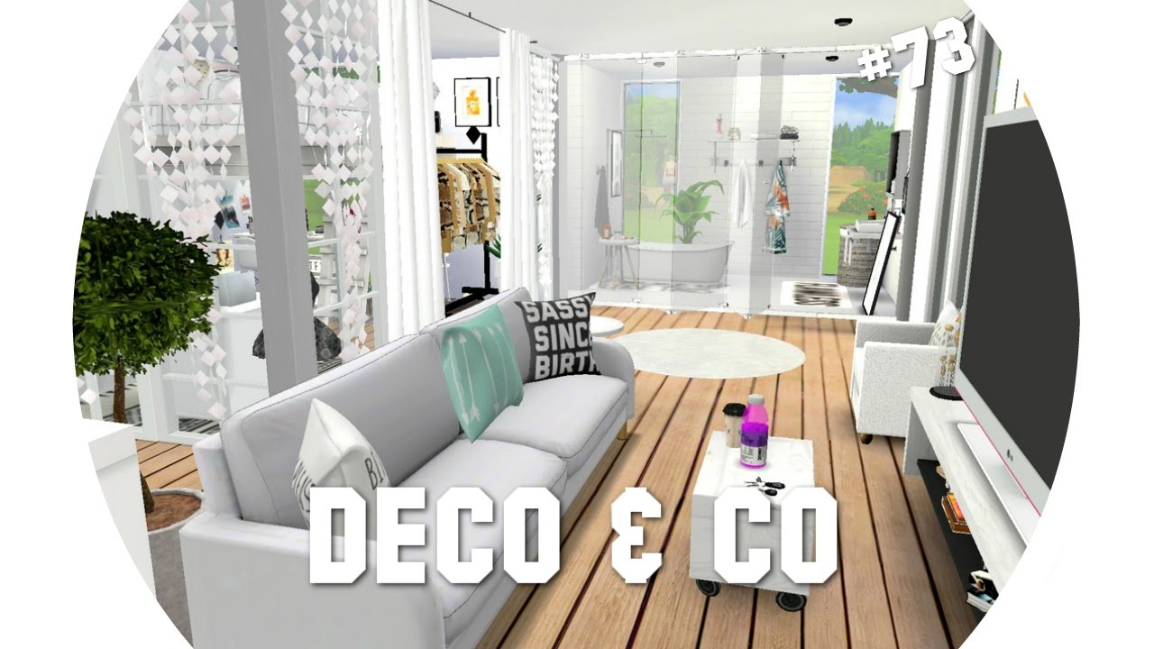 les sims 4 deco co 73 studio d 39 une youtubeuse beaute cc liste youtube. Black Bedroom Furniture Sets. Home Design Ideas