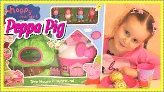 Свинка Пеппа Домик Детская Площадка Игрушки Peppa Pig Видео про Свинку Пеппу. Дом на дереве набор.