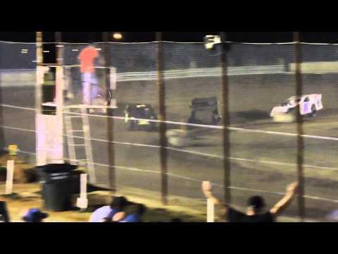 Lucas Dobbs USRA Modified Heat Race Nevada Speedway 9/19/14