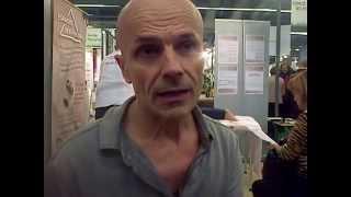 Entretien de Jacques  Halbronn  avec  Alain Montebran,  Stand Espace des possibles
